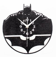 Wholesale Three Dimensional Wall Clocks - Creative Three-dimensional Batman Wall Clock Retro Wall Bracket Clock