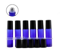 Wholesale Blue Glass Oz Bottles - Essential Nature, Blue Glass Bottles (Not Painted) with Metal Rollers, 2 Pipettes, 48 Labels. 10ml 1 3 Oz, High Quality for Essential Oils