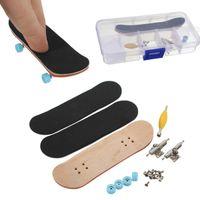 Wholesale Wholesale Skateboard Decks - Wholesale-Assembly Complete Wooden Deck Fingerboard Skateboard - Maple Wood with Bearings Kids Gift