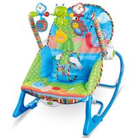 Wholesale Baby Adjustable High Chair - Baby Rocking Chair Musical Electric Swing Chair High Quality Vibrating Bouncer Chair Adjustable Kids Recliner Cradle Chaise Accessories
