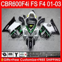 Wholesale F4i Honda - 8Gifts 23Colors For HONDA CBR 600 F4i 01-03 CBR600FS FS 28HM15 CBR600 F4i 2001 2002 2003 CBR 600F4i green black CBR600F4i 01 02 03 Fairing