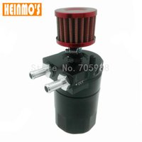 Wholesale engine spare parts - Black Brand New Engine Spare Parts Reservoir Oil Tank Aluminum Oil Catch Can With Breather Filter Baffled