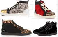 Wholesale Waterproof Casual Shoes For Men - 2017 new wholesale Black Snake Leather High Top maison martin margiela Fashion men Sneakers mmm For Unisex Luxury Brand Winter Casual Shoe