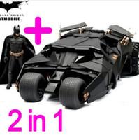 Wholesale Batman Batmobile Tumbler Figure - Two In One Awesome Batman Tumbler Batmobile Toy Action Figure PVC With Sticker As Gift Toys Free Shipping