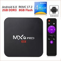 Wholesale Smart Tv Android Hd - 2GB RAM rk3229 mxq pro 4K Ultimate HD Android 6.0 smart tv box S905W Quad Core 8GB 2.0GHz Hardware Decoding WIFI Miracast