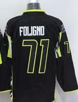 Wholesale Mens Star Jacket - 2016 New, 2015 All Star Blue Jackets Mens Jerseys 71 Nick Foligno Black Best Quality Cheap Full Embroidery Logos Ice Hockey Jerseys
