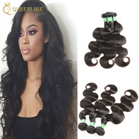 Wholesale India Body Wave Hair - Raw Temple India Virgin hair Weave Bundles Body wave 1B Dyeable Unprocessed Remy human hair extension Free Shipping Queenlike Silver 7A