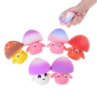 Wholesale Toy Mushrooms Kids - Squishy Mushroom Stress Relief Slowing Rising Doll Squeeze Toy Mushroom Cream Scented Slow Rising Stress Release Toy KKA2801