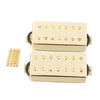 Wholesale Lps Golden - Golden 7 String Guitar Pickup Set Double Coil Humbucker For LP Electric Guitar