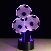 Art Deco Lamps 3d Led Night Lamp Color Changing Led Lights Kids Room Home Decoration Best Gift Touch Control Light 7 Colors Change Usb Pow