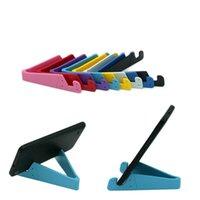 suporte de mesa para celular venda por atacado-v forma titular do telefone móvel estação de mesa stand suporte de plástico para iphone 7 6 plus 5 4 para samsung