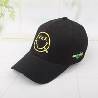 Wholesale Smile Letters - Hot Sale New Fashion Brand Breathable Snapback Caps Strapback Baseball Cap Bboy Hip-hop Hats For Men Women Fitted Hat Black Smiling face