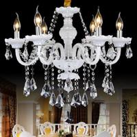 Wholesale Maria Crystal Chandelier Light - living room bedroom study crystal chandelier French romantic crystal chandeliers lamp 8 lights handmade glass art shade maria theresa lights