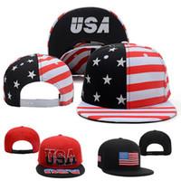 Wholesale Snap Back Hats Usa - High Quality USA Flag Snapback Caps & Hats Snapbacks Snap Back Hat Men Women Baseball Cap Cheap Sale