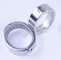 Wholesale Oval Steel Handcuffs - 2017 Latest Male Female Stainless Steel 8 Form Fixed Oval Wrist Restraint Handcuffs Bondage Manacle Adult BDSM Sex Toy 827