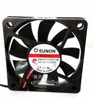 подвеска с вентилятором 12v оптовых-Первоначально SUNON MB60101V3-000C-A99 6cm гидровлический вентилятор охлаждения DC подшипника с 12V 0.65 W 60*60*10mm 2 провода