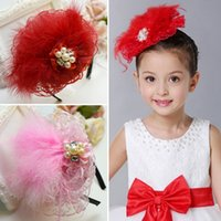 Wholesale Dolls For Hair - kids hair accessories children infant headband girls dance wear christmas hair bows Christmas hair bands for girls princess dolls