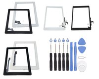 Wholesale Ipad Air Tools - For iPad 2 3 4 Touch Screen Glass Panel with Digitizer Buttons Adhesive Assembly For Ipad mini 1 2 Air Black and White With Repair tools