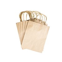 Wholesale Wholesale Party Paper Bags - Wholesale-Elegant White Packaging Bags With Handle Kraft Paper Bag For Party Favors 12pcs
