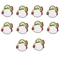 Wholesale Wholesale Christmas Iron Appliques - 10PCS Christmas snowman embroidery patches for clothing iron patch for cloth applique sewing accessories stickers on clothes iron on patches