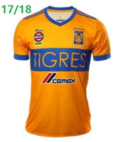 Wholesale Thailand Soccer Jerseys Free Shipping - 2017 NEW Tigres UANL soccer jerseys thailand quality 17 18 Mexico club Maillot De Foot Home 5 star football shirts free shipping