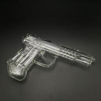 wachspistolen groihandel-3 Farben Pistole Glas Wasserleitungen Pistole Pfeife Glas Bong Shisha Wachsschreiber für Trockenen Kraut Vaporizer