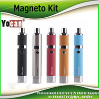 Wholesale Genuine Caps Wholesale - Authentic Yocan Magneto Kit 1100mAh Wax Pen Wax Vaporizer Magnetic Coil Cap built with Dab Tool 100% Genuine DHL Free 2204036
