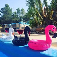 Wholesale Kids Bath Toy Holder - Pink Black White Swan Unicorn Inflatable Cup Floating Inflatable Drink Cup Holder Swimming Pool Bath Beach Party Child's Play Kids Bath Toy