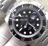 Wholesale Eta Dive Watch - Mens Top Noob Factory V7 Version Automatic Eta 3135 Watch Men Black Ceramic Bezel Calendar Sapphire Sport Dive Swiss Steel Luminous Watches