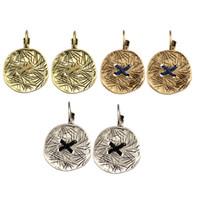 Wholesale Retro Style Ear Studs - idealway Retro Style Alloy Cute Button Shape Drop Dangle Stud Ear Clip Earrings For Women & Girls Jewelry