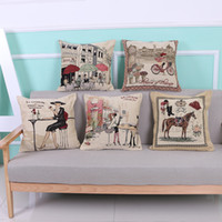 Wholesale Cute Sofa Set - Pillowcase European New Embroidery Dyed Pillow Cute Cotton Linen Cushions Sofa Car Waist Cushions Bedside Cushion Sets
