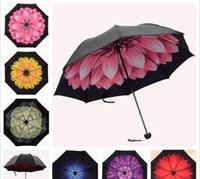 Wholesale Sky Umbrellas Wholesale - Starry Sky Flower Anti UV Inverted Umbrella Reverse Folding Double Layer Self Stand Inside Out