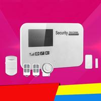 sistema de alarma gsm dialer al por mayor-CE Calidad GSM Inalámbrica PIR Seguridad para el Hogar Sistemas de Alarma Antirrobo Marcación Automática Marcador SMS Call keypad with Android IOS APP