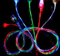 ingrosso cavo di caricamento leggero visibile-Flowing LED infiammante visibile del USB del caricatore del cavo di 1M 3FT di sincronizzazione di dati colorato piombo Cord Light Up per il bordo di Samsung S7 S6 HTC Blackberry universale