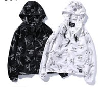 Wholesale Designer Hood Coats - New designer sunscreen tide brand new Eagle coat windbreaker hot stamping hood sunscreen thin section hoodie street outwear hoodie