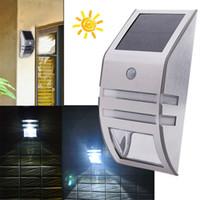 Wholesale Ac Power Sensor - Newest PIR Solar Sensor wall lamp LED Solar power outdoor waterproof Lamp Wall Light garden yard light