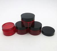 ingrosso crema cutanea rossa-Barattolo di crema per la cura della pelle di animali domestici rosso 50 x 30g con coperchi di plastica con contenitore cosmetico 1 oz di inserimento