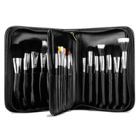 Wholesale High End Make Up - 29 pcs Pro Makeup Brushes Set High Quality Animal Hair With High End PU Leather Case Professional Make Up Brushes Set Makeup For Beauty Cosm