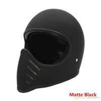 Wholesale Tt Helmets - TT & CO Japanese Thompson Men motorcycle helmet vintage full face motorcycle helmet Ghost Rider racing shiny helmets motocicleta