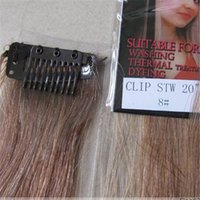 """Wholesale Trade Hair Clips - Wholesale-5pcs New Fashion trade price 20"""" Colorful Colour Women's Remy Human Hair Straight Clips In Extensions 5g Pcs Light Brown #8"""