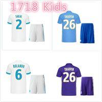 Wholesale Purple Kids Tops Shirts - 2017 2018 Olympique Marseille kids kit Jersey 17 18 Batshuayi Gignac Maillot de Payet Ocampos Lass Home Shirt top Quality