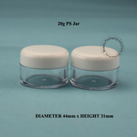 Wholesale Wholesale Glass Powder Container - Wholesale 100pcs lot 20g Plastic PS Cream Jar Powder Compact 20ml Cosmetic Container Packaging 20ML Refillable Eyeshadow Pot