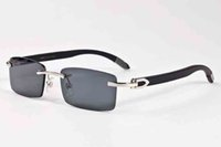 Wholesale Adult Novels - novel goggle outdoor brands designer rimless luxury sunglasses for women black shades fashion retro aaa cycling glasses with original case