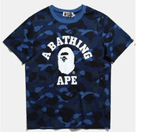 Wholesale Quality Quick Printing - Hot sales shark T Shirt Men Top Quality 100% Cotton Hip Hop aapes Street Short Sleeve Tees Kanye West Yeezus Couple T Shirt