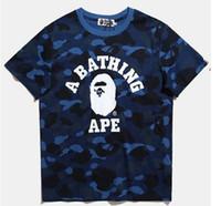 Wholesale Hot Pink Tee - Hot sales shark T Shirt Men Top Quality 100% Cotton Hip Hop aapes Street Short Sleeve Tees Kanye West Yeezus Couple T Shirt