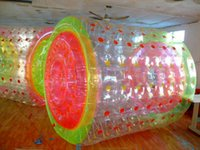 Frete Grátis 2.2m 0.8mm PVC Inflável Water Rolling Ball Zorbing Ball Walking On Water Water Roller Ball