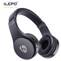 auriculares inalámbricos usb al por mayor-S55 El uso de los auriculares con la tarjeta de FM auricular plegable montado en la cabeza de auriculares para el teléfono inalámbrico de auriculares libera la nave de DHL Smasung