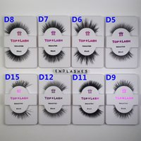 Wholesale Half Lashes - 1 Pair Set 100% Natural Mink Hair Fur Eyelashes OEM&Private Logo Acceptable Messy Eye lash Extension Sexy Eyelash Full Half Strip Eye Lashes