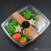 Wholesale Meal Package - Meal Containers Disposable Lunch Boxes Transparent Seal Cover Salad Box Convenient Safety Food Crisper Plastic Packaging 0 49zq R