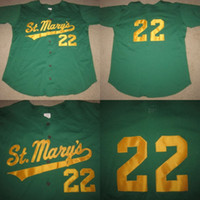 Wholesale Knight Wear - 22 St. Saint Mary's Knights High School Baseball Game Used Worn Jersey 100% Stitched Embroidery Logos Retro Baseball Jerseys Any Name Number